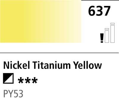 DR Cryla acrylic 75ml 637 Nickel titanate yellow