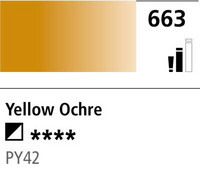 DR Cryla acrylic 75ml 663 Yellow ochre