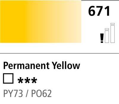 DR Cryla acrylic 75ml 671 Permanent yellow