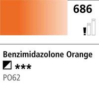 DR Cryla acrylic 75ml 686 Benzimidazolone orange