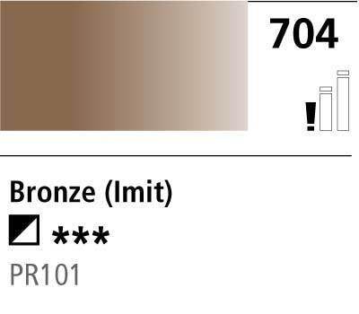 DR Cryla acrylic 75ml 704 Bronze (hue)