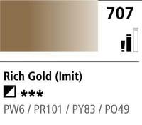 DR Cryla acrylic 75ml 707 Rich gold (hue)