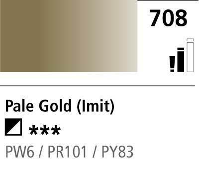 DR Cryla acrylic 75ml 708 Pale gold (hue)