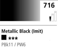 DR Cryla acrylic 75ml 716 Metallic black (hue)