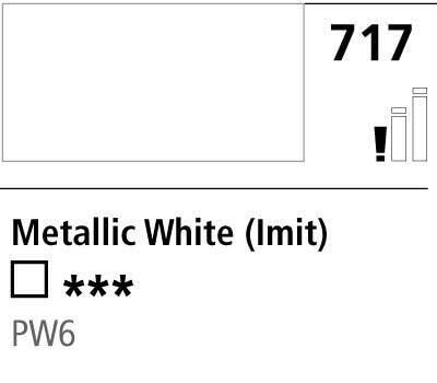 DR Cryla acrylic 75ml 717 Metallic white (hue)