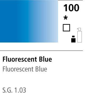 FW Acrylic ink 29,5ml 100 Fluorescent blue
