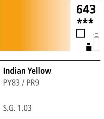 FW Acrylic ink 29,5ml 643 Indian yellow