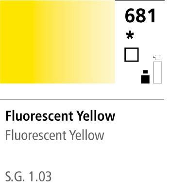FW Acrylic ink 29,5ml 681 Fluorescent yellow