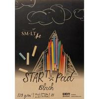 SMLT piirustuspaperi A4 musta 120g 20 sivua