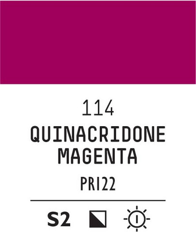 Acrylic Gouache 114 Quinacridone magent