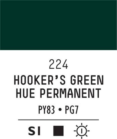 Acrylic Gouache 224 Hooker's green hue