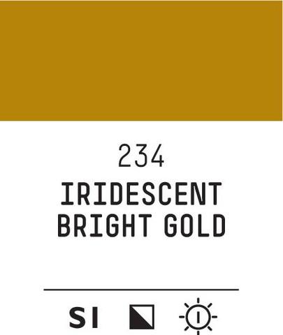 Acrylic Gouache 234 Iridescent bright gold