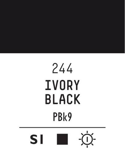 Acrylic Gouache 244 Ivory black