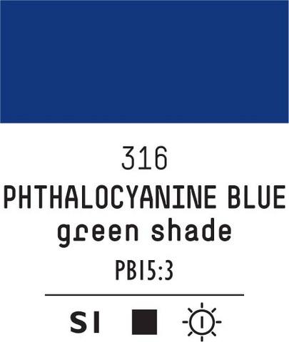 Acrylic Gouache 316 Phthalocyanine blue