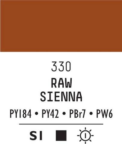 Acrylic Gouache 330 Raw sienna