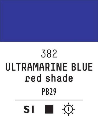 Acrylic Gouache 382 Ultram blue (red shade)