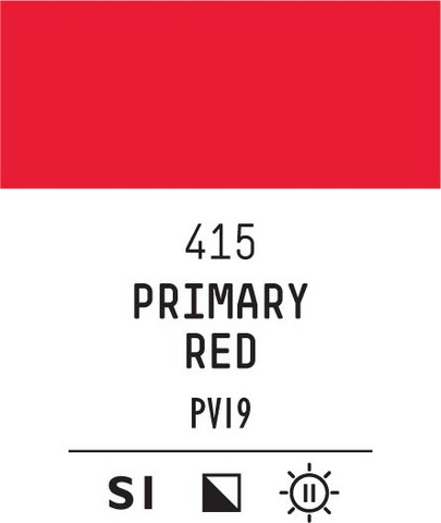 Acrylic Gouache 415 Primary red