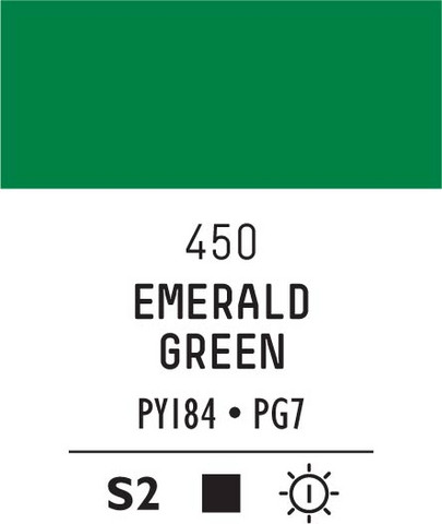Acrylic Gouache 450 Emerald green