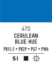 Acrylic Gouache 470 Cerulean blue hue