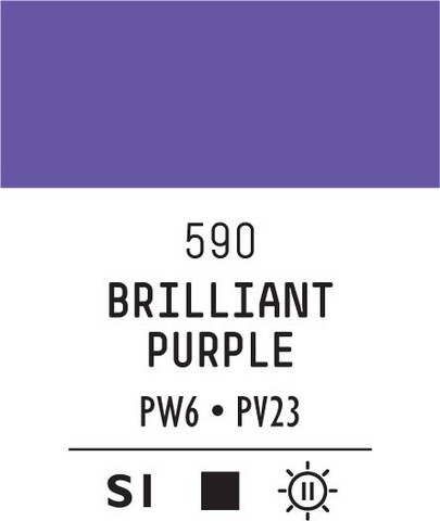 Acrylic Gouache 590 Brilliant purple