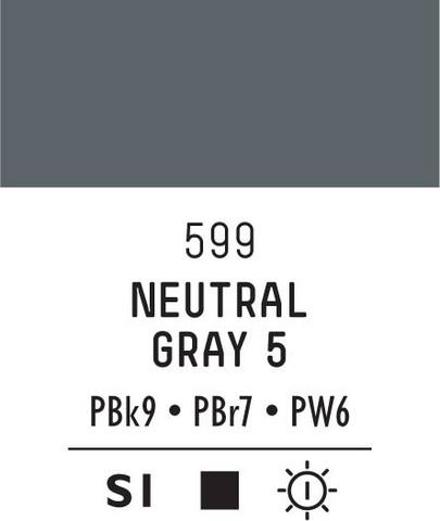 Acrylic Gouache 599 Neutral grey 5