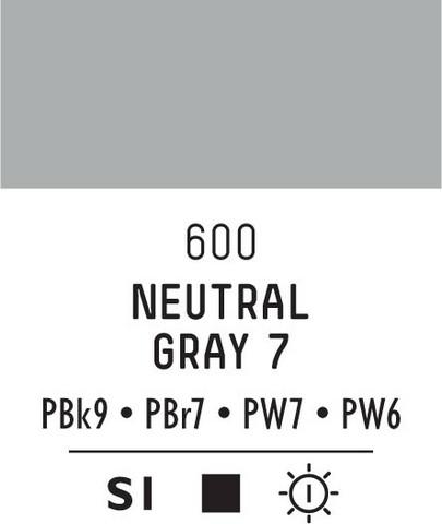 Acrylic Gouache 600 Neutral grey 7