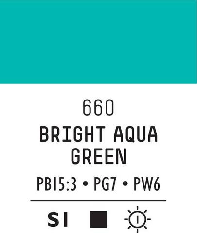 Acrylic Gouache 660 Bright aqua green