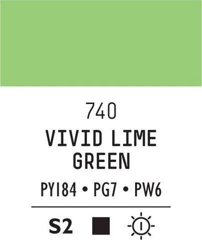 Acrylic Gouache 740 Vivid lime green