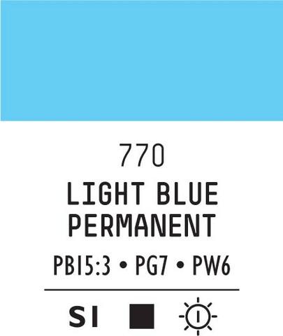 Acrylic Gouache 770 Light blue permanent