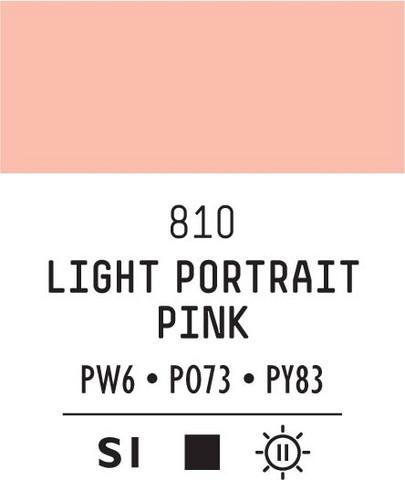 Acrylic Gouache 810 Light portrait pink