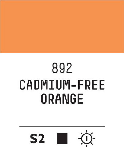 Acrylic Gouache 892 Orange (cad. free)