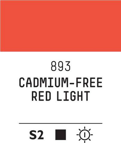 Acrylic Gouache 893 Red light (cad. free)