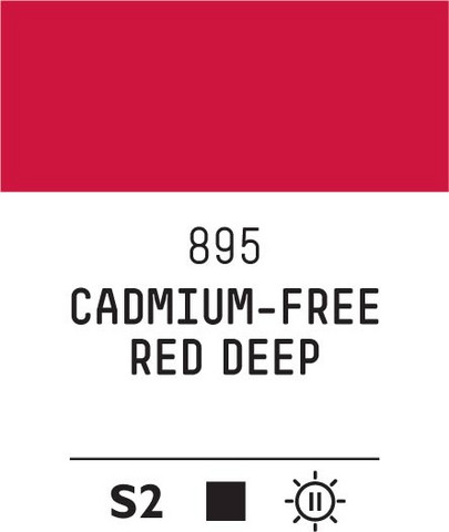 Acrylic Gouache 895 Red deep (cad. free)