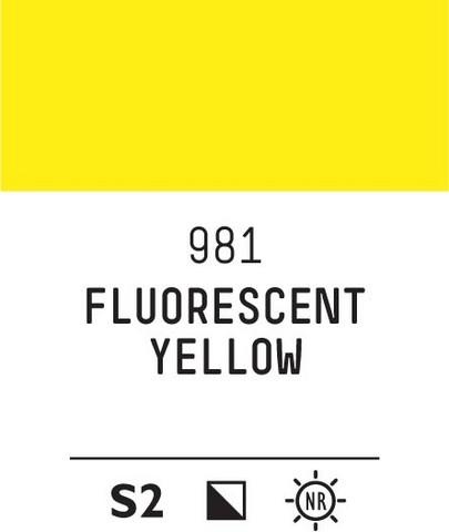 Acrylic Gouache 981 Fluorescent yellow