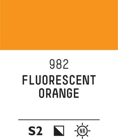 Acrylic Gouache 982 Fluorescent orange