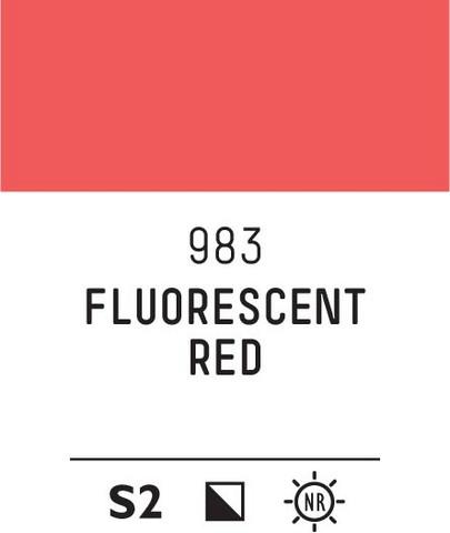 Acrylic Gouache 983 Fluorescent red