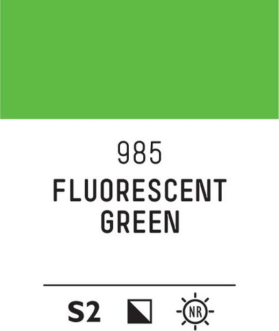 Acrylic Gouache 985 Fluorescent green