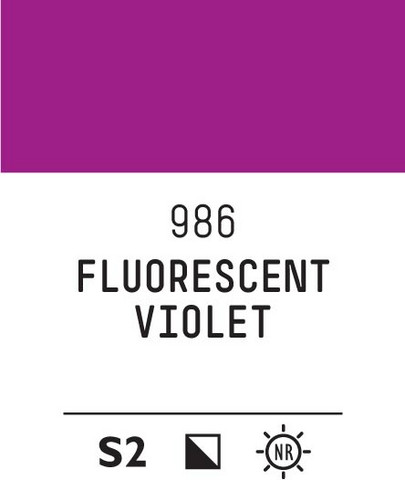 Acrylic Gouache 986 Fluorescent violet
