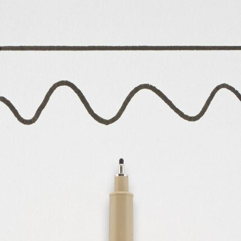 Pigma Micron (10) musta 0,6 mm