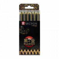 Sakura Pigma Micron 6 fineliners 100v. gold edition