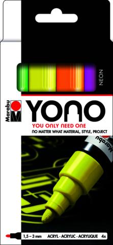 Marabu YONO Marker set Neon 4 x 1.5-3 mm