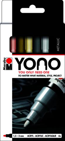 Marabu YONO Marker set Metal 4 x 1.5-3 mm