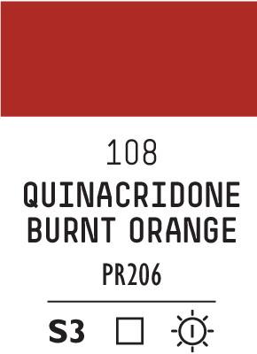 Liq Heavybody 59ml quinacridone burnt orange 108