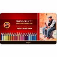 Kohinoor Mondeluz Art 72 vesivärikynää metallirasiassa