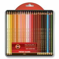 KOH Polycolor värikynät 24kpl Portrait metallirasiassa