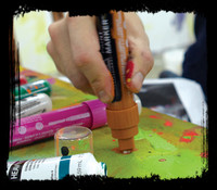 Liquitex paint marker 128 Burnt umber 2mm