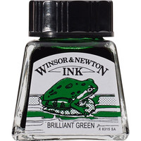 W&N Drawing ink 14ml 046 Brilliant green