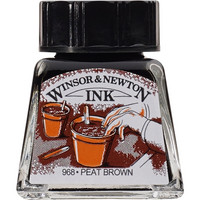W&N Drawing ink 14ml 469 Peat brown