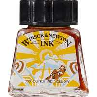 W&N Drawing ink 14ml 633 Sunshine yellow
