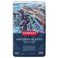 Derwent Inktense Blocks -musteväriliidut, 12 kpl